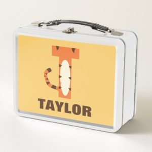 T is for Tigger | Add Your Name Metal Lunch Box
