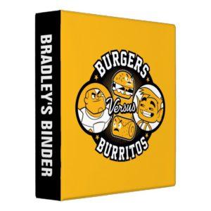 Teen Titans Go!   Burgers Versus Burritos 3 Ring Binder