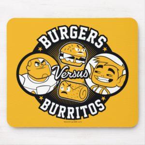 Teen Titans Go! | Burgers Versus Burritos Mouse Pad