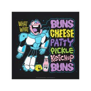 Teen Titans Go! | Cyborg Burger Rap Canvas Print
