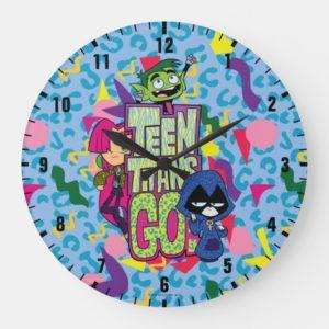 "Teen Titans Go! | ""Girls Girls"" Animal Print Logo Large Clock"