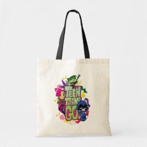 "Teen Titans Go! | ""Girls Girls"" Animal Print Logo Tote Bag"