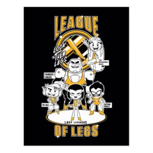 Teen Titans Go!   League of Legs Postcard