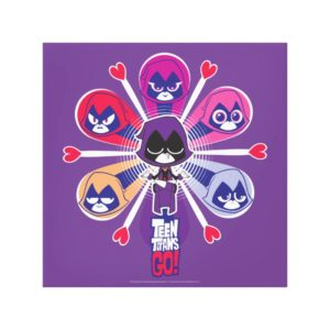 Teen Titans Go! | Raven's Emoticlones Canvas Print