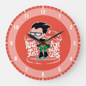 Teen Titans Go! | Robin Booty Scooty Buns Large Clock