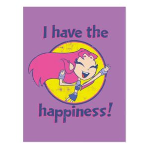 "Teen Titans Go! | Starfire ""I Have The Happiness"" Postcard"