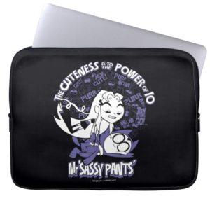 Teen Titans Go!   Starfire & Mr Sassy Pants Laptop Sleeve