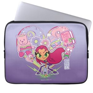 Teen Titans Go! | Starfire's Heart Punch Graphic Laptop Sleeve