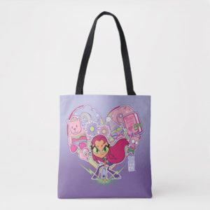 Teen Titans Go! | Starfire's Heart Punch Graphic Tote Bag