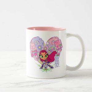 Teen Titans Go! | Starfire's Heart Punch Graphic Two-Tone Coffee Mug