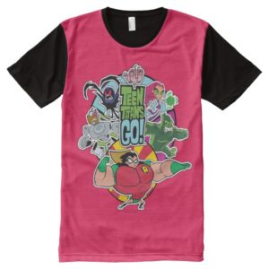 Teen Titans Go! | Team Group Graphic All-Over-Print T-Shirt