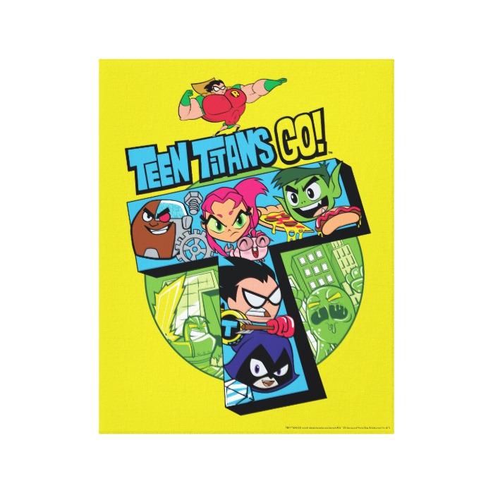Titans Tower Collage Canvas Print 96d072593a