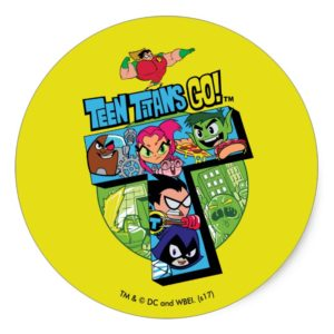 Teen Titans Go! | Titans Tower Collage Classic Round Sticker