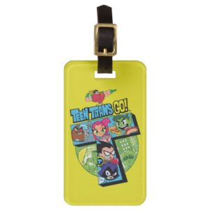 Teen Titans Go!   Titans Tower Collage Luggage Tag