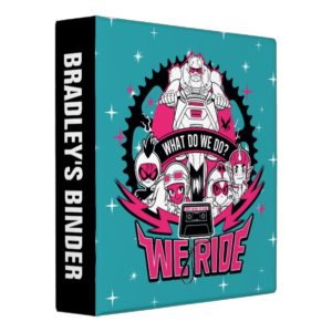 "Teen Titans Go! | ""We Ride"" Retro Moto Graphic 3 Ring Binder"