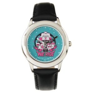 "Teen Titans Go! | ""We Ride"" Retro Moto Graphic Watch"