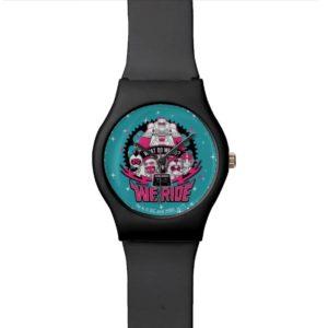 "Teen Titans Go! | ""We Ride"" Retro Moto Graphic Wristwatch"