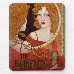 THE BLIND PIG™ Vintage Artwork Mouse Pad