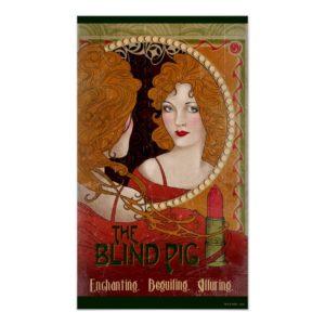 THE BLIND PIG™ Vintage Artwork Poster