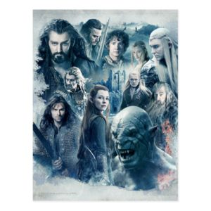 The Five Armies Character Graphic Postcard