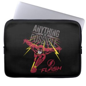 """The Flash   """"Anything Is Possible"""" Computer Sleeve"""