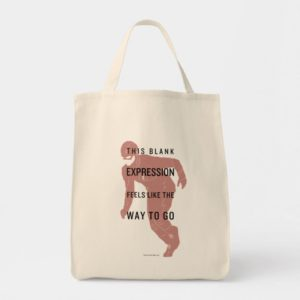 "The Flash | ""Blank Expression"" Quote Silhouette Tote Bag"