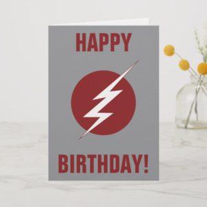 The Flash   Lightning Bolt Logo Card