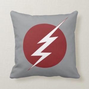 The Flash | Lightning Bolt Logo Throw Pillow