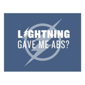 "The Flash | ""Lightning Gave Me Abs?"" Postcard"