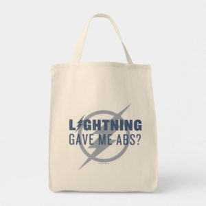 "The Flash | ""Lightning Gave Me Abs?"" Tote Bag"