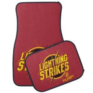 "The Flash | ""Lightning Strikes"" Graphic Car Floor Mat"