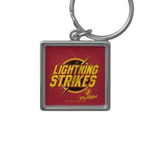 "The Flash   ""Lightning Strikes"" Graphic Keychain"