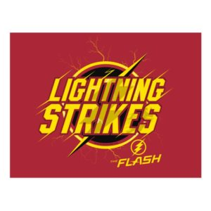 "The Flash | ""Lightning Strikes"" Graphic Postcard"
