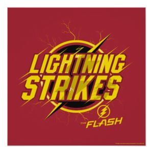 """The Flash   """"Lightning Strikes"""" Graphic Poster"""