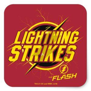 "The Flash | ""Lightning Strikes"" Graphic Square Sticker"