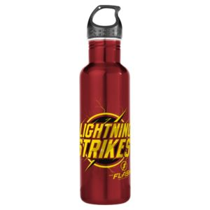 "The Flash | ""Lightning Strikes"" Graphic Stainless Steel Water Bottle"