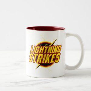 "The Flash   ""Lightning Strikes"" Graphic Two-Tone Coffee Mug"