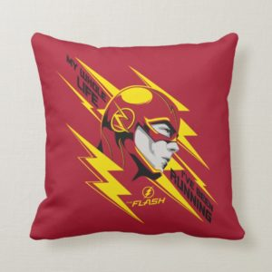 The Flash | My Whole Life I've Been Running Throw Pillow