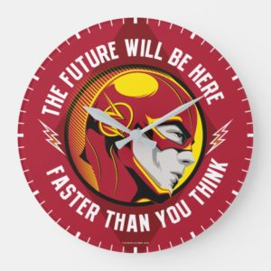 """The Flash   """"The Future Will Be Here"""" Large Clock"""