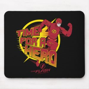 """The Flash   """"Time For A Hero"""" Graphic Mouse Pad"""