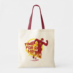 """The Flash   """"Time For A Hero"""" Graphic Tote Bag"""