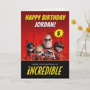 The Incredibles Family Birthday Card