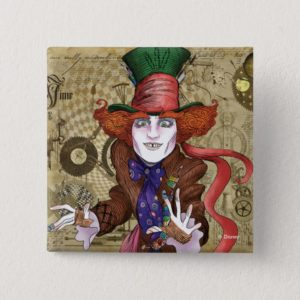 The Mad Hatter | Mad as a Hatter Button