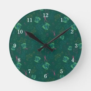 The Mad Hatter Pattern Round Clock