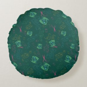 The Mad Hatter Pattern Round Pillow