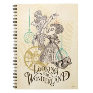 The Queen & Mad Hatter   Looking for Wonderland Notebook