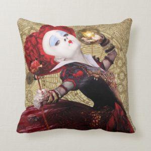 The Red Queen   Adventures in Wonderland 2 Throw Pillow