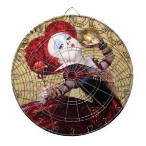 The Red Queen   Adventures in Wonderland Dartboard
