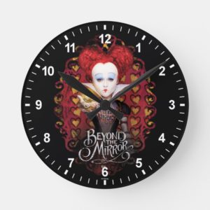 The Red Queen   Beyond the Mirror Round Clock