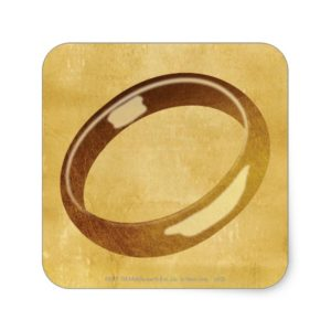 The Ring Square Sticker